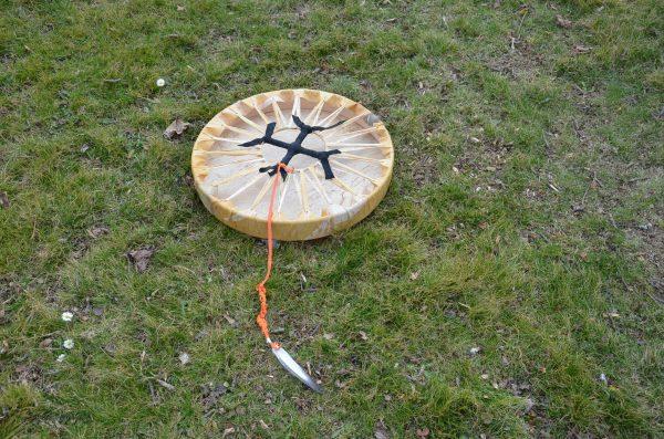 Trommel mit Pferdekamm 50 cm