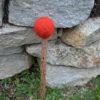 Klöppel Haselnuss rot