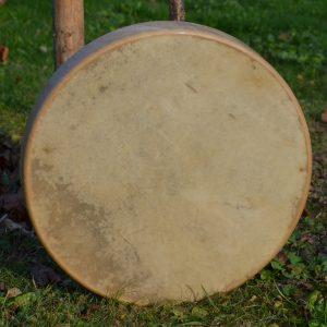 Trommel in 40 cm rund und Ziegenhaut