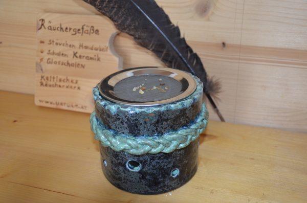 Räucherstövchen für Kräuter und Weihrauch mit Sieb